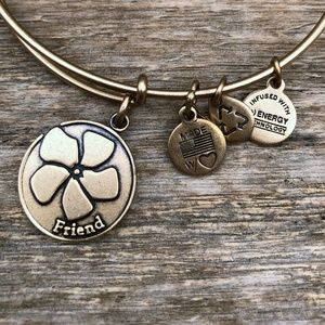 ALEX & ANI {Friend Bangle} Matte Gold Charms